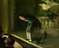 London Music Hall painting reproduction, Everett Shinn