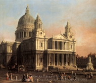London: St. Paul's Cathedral painting reproduction, Canaletto
