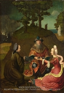 Lot's Daughters Make Their Father Drink Wine by Lucas Van Leyden