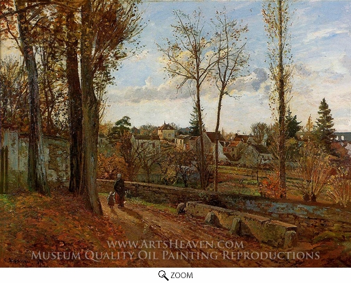 Painting Reproduction of Louveciennes, Camille Pissarro