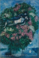 Lovers in the Lilacs painting reproduction, Marc Chagall (inspired by)