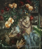 Lovers with Flowers painting reproduction, Marc Chagall (inspired by)