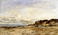 Low Tide at Villerville painting reproduction, Charles Daubigny