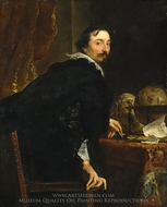 Lucas van Uffel painting reproduction, Sir Anthony Van Dyck
