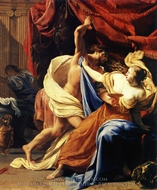 Lucretia and Tarquin painting reproduction, Simon Vouet