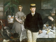Lunch in the Studio painting reproduction, Edouard Manet