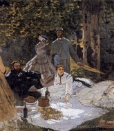 Luncheon on the Grass painting reproduction, Claude Monet