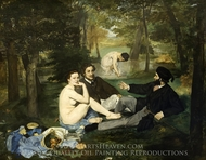 Luncheon on the Grass painting reproduction, Edouard Manet