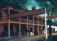 Macomb's Dam Hotel painting reproduction, M. A. Sullivan
