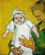 Madame Augustine Roulin with Baby by Vincent Van Gogh