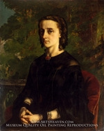 Madame de Brayer by Gustave Courbet