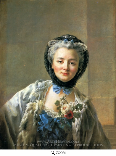 Painting Reproduction of Madame Drouais, Francois-Hubert Drouais