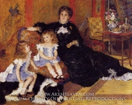 Madame Georges Charpentier and Her Children painting reproduction, Pierre-Auguste Renoir