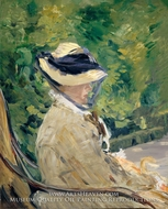 Madame Manet at Bellevue by Edouard Manet