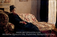 Madame Monet on a Couch by Claude Monet
