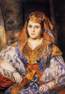 Madame Stora in Algerian Dress painting reproduction, Pierre-Auguste Renoir