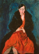 Madeleine Castaing painting reproduction, Chaim Soutine