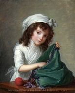 Mademoiselle Brongniart painting reproduction, Louise Elisabeth Vigee-Lebrun
