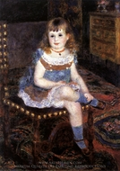 Mademoiselle Georgette Charpentier Seated painting reproduction, Pierre-Auguste Renoir