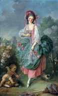 Mademoiselle Guimard as Terpsichore painting reproduction, Jacques-Louis David