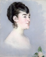Mademoiselle Isabelle Lemonnier painting reproduction, Edouard Manet