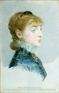 Mademoiselle Lucie Delabigne painting reproduction, Edouard Manet