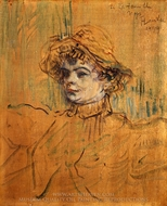 Mademoiselle Nys painting reproduction, Henri De Toulouse-Lautrec