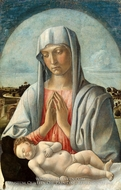 Madonna Adoring the Sleeping Child painting reproduction, Giovanni Bellini
