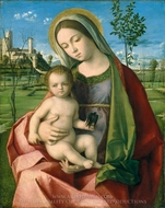 Madonna and Child painting reproduction, Giovanni Bellini