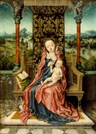 Madonna and Child Enthroned painting reproduction, Aelbrecht Bouts