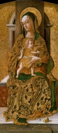 Madonna and Child Enthroned painting reproduction, Carlo Crivelli