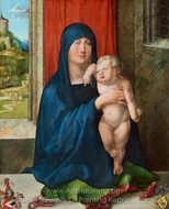 Madonna and Child (Haller Madonna) painting reproduction, Albrecht Durer
