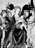 Madonna and Child with Angels painting reproduction, Italian Painter