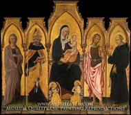 Madonna and Child with Saints by Giovanni Di Paolo