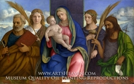 Madonna and Child with Saints by Giovanni Bellini