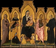 Madonna and Child with Saints painting reproduction, Giovanni Di Paolo