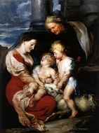 Madonna and Child with St. Elizabeth and St. John painting reproduction, Peter Paul Rubens