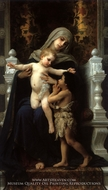 Madonna and Child with St. John the Baptist painting reproduction, William Adolphe Bouguereau