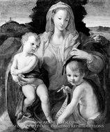 Madonna and Child with the Young Saint John the Baptist painting reproduction, Italian Painter