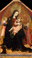 Madonna and Child with Two Angels and a Donor painting reproduction, Giovanni Di Paolo