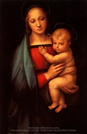 Madonna del Granduca painting reproduction, Raphael Sanzio