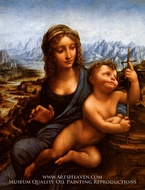 Madonna of the Yarnwinder by Leonardo Da Vinci