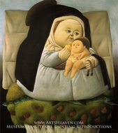 Madonna with Child by Fernando Botero
