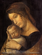 Madonna with Sleeping Child painting reproduction, Andrea Mantegna