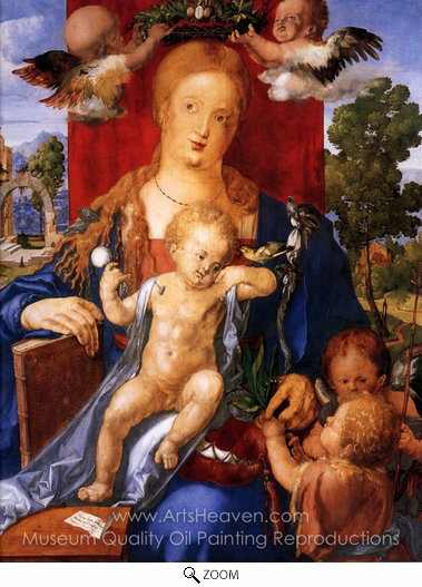 Painting Reproduction of Madonna with the Siskin, Albrecht Durer