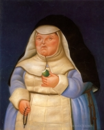 Madre Superiora painting reproduction, Fernando Botero