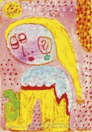 Magdalena vor der Bekehrung painting reproduction, Paul Klee