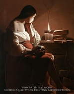 Magdalene with the Nightlight by Georges De La Tour