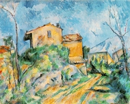 Maison Maria, View of Chateau Noir painting reproduction, Paul Cezanne