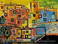Maisons by Pablo Picasso (inspired by)